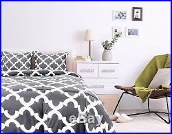Comforter Set-2 Pillow Shams-Luxurious Soft Microfiber-Goose Down Alternative-Qu