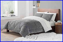 Comforter Ugg Set Reversible 3 Piece Queen Sherpa New Avery Bedding Home