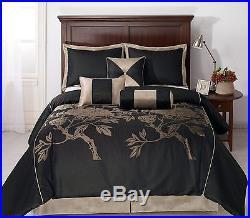 Cozy Beddings Nuit Queen Size 7-Piece Jacquard Comforter Set
