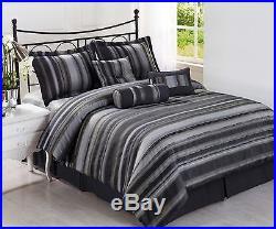 Cozy Beddings Rogers Queen Size 7-Piece Jacquard Comforter Set New