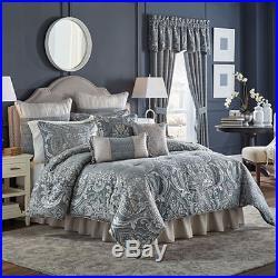 Croscill Bedding Gabrielle 4-Piece QUEEN Comforter Set Slate Blue G648
