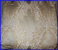 Croscill Classics Pearl Champagne Gold 4 Pc Reversible Queen Comforter Set NEW