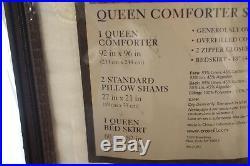 Croscill Couture Hepburn 4-Piece Linen/Cotton Queen Comforter Set Ivory i287
