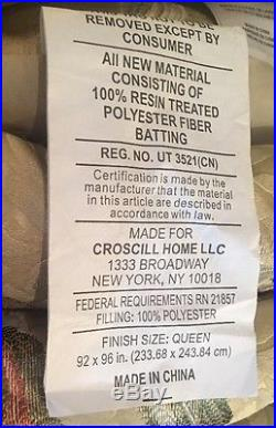 Croscill Iris 4 Pc Queen Reversible Comforter Set NEW