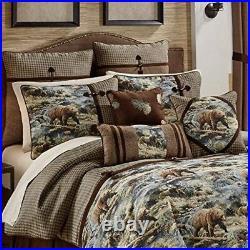 Croscill Kodiak Hunting Cabin Queen Comforter Set 1 Comforter 2 Shams 1 Bedskirt