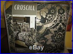 Croscill Napoleon Black Jacquard Black & Gold (4pc) Queen Comforter Set