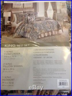 Croscill Philomena Queen Comforter Set, 4 Pieces, NIP