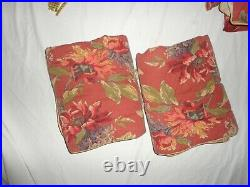 Croscill Serena Botanical Sienna Green Floral (4pc) Queen Comforter Set