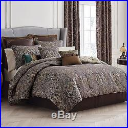 Croscill Zarina Paisley Reversible 4PC Queen Comforter Set New
