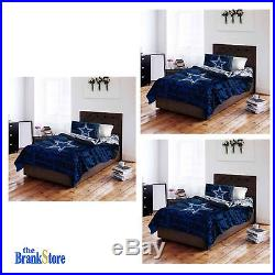 Dallas Cowboys Queen Full Comforter Set 5 Pc NFL Bed Cover Sheets Beddings
