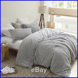 Deluxe Grey Velvet Reverse Faux Mink Fox Fur 3 pcs King Queen Comforter Set