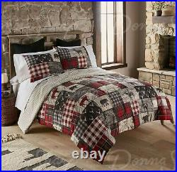 Donna Sharp Timber Wildlife Polyester Rustic Country Queen 3-Piece Comforter Set