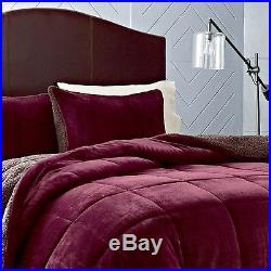 Eddie Bauer Premium Fleece Comforter Set Full/Queen Beet