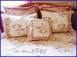 Embroidered Linen / CUSTOM MADE / 91 x 91 / QUEEN COMFORTER 7 PIECE SET