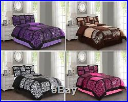 Empire Home Safari Damask 4-Piece Comforter Set Bed In A Bag New Arrival Sale