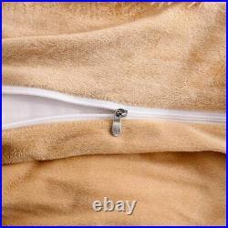 Faux Fur Velvet Fluffy Bedding Duvet Cover Set Down Comforter Quilt Cover with P