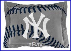 Full/Queen New York Yankees Bed Comforter Set MLB Bedding Microfiber Cover Blue