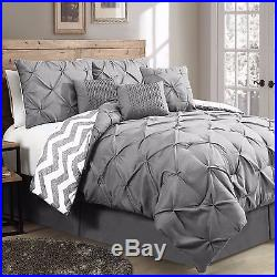 Germain 7 Piece Reversible Comforter Set- Queen