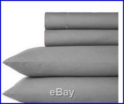 Gray Black Comforter Set + Sheet Set Micro Suede King Size 11 PIECE