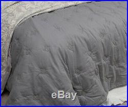 Greta 100% Cotton Coverlet Bedspread Comforter Bedcover Set 3pcs King
