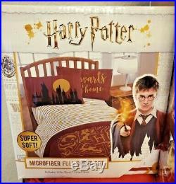 Harry Potter Gold Foil Hogwarts Crest Full/Queen Comforter & Sheet Set NEW