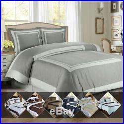Hotel 100% Cotton Comforter Cover Set Luxury Soft Duvet Cover + Pillow Shams