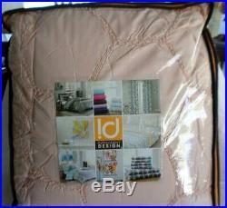 Intelligent Design Carrie 5 Piece Full / Queen Comforter Set Bedding Pink Blush
