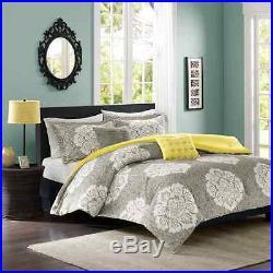 Intelligent Design Tanya 5 Piece Comforter Set, Full/Queen, Grey