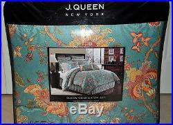 J. Queen Montego 4pc QUEEN COMFORTER SET Comforter, Shams, Bedskirt NEW