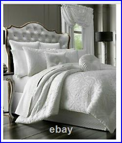 J. Queen New York Astoria White king 4 Piece Comforter Set