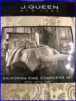 J. Queen New York La Scala 4-Piece California King Comforter Set in Gold NEW