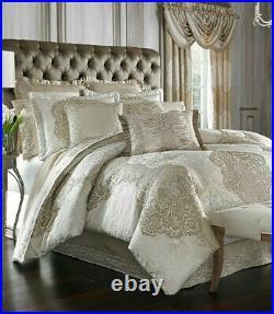 J Queen New York La Scala Queen Comforter Set In Gold Comforter Shams Bedskirt