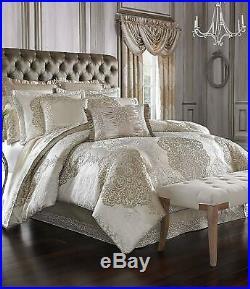 J. Queen New York La Scala Queen Comforter Set in Gold