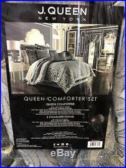 J Queen New York Sicily Teak 4 Piece Queen Comforter Set. Retail $420