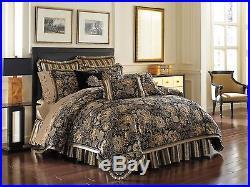J. Queen New York Valdosta Black Queen 4 Pc Comforter Set
