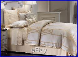 Jennifer Lopez CHATEAU Comforter Set 4 pcs CHAMPAGNE GOLD Gray Jacquard QUEEN