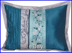 Juliana 7-Piece QUEEN SIZE Bedding Comforter Set TEAL SILVER ...