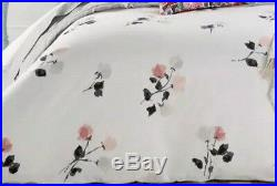 KATE SPADE NEW YORK Willow Court FULL QUEEN 3pc Comforter Set WHITE GRAY PINK