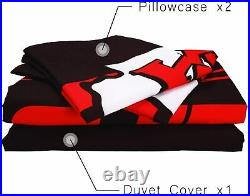 Kansas City Chiefs 3PCS Bedding Set Duvet Cover Pillowcase Comforter Cover Set