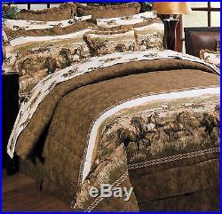 Karin Maki Comforter Bedding Set Wild Horses Full, Queen and King