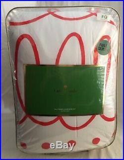 Kate Spade Charlotte Street CORAL Comforter Set Full / Queen Rare