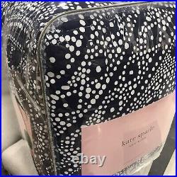 Kate Spade Eyelet Medallion White Blue F/Queen Comforter Set 3 New