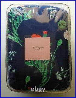 Kate spade Hummingbird Floral Blue Green FULL QUEEN 3 PC COMFORTER SHAMS SET NEW