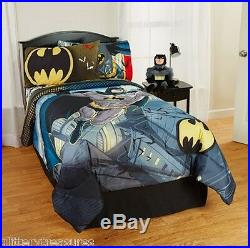 Kids Boys Batman Bedding Bed In A Bag / Comforter Set 3 Prints