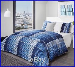 Lacoste Navy Albe Full/queen Comforter Set Msrp $315 New In Torn Package