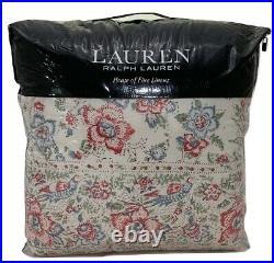 Lauren Ralph Lauren Lucie Floral Full/Queen Comforter Set Cream Multi MSRP $335