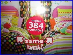 Littlemissmatched Komboze Zany Black Dots (9pc) Full Bed In Bag Comforter Set