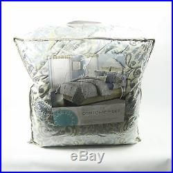 Martha Stewart Collection Amora 22(20) Pc QUEEN Comforter Set BLUE Bedding D3008
