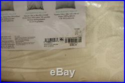 Martha Stewart Feather Breeze 14 Piece QUEEN Comforter Set IVORY Bedding J91002