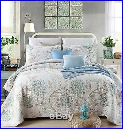 Megan Whisper 100% Cotton Coverlet Bedspread Comforter Bedcover Set 3pcs Queen